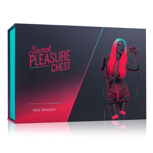 Das Bild zeigt die Verpackung der Secret Pleasure Chest - Red Dragon